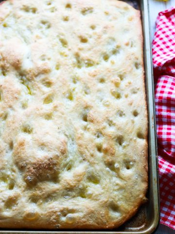 How to make Italian Focaccia Genovese-in the pan