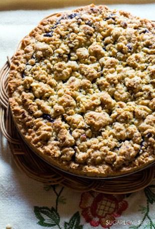 Hazelnut Sbrisolona Cake with Chocolate Spread-whole