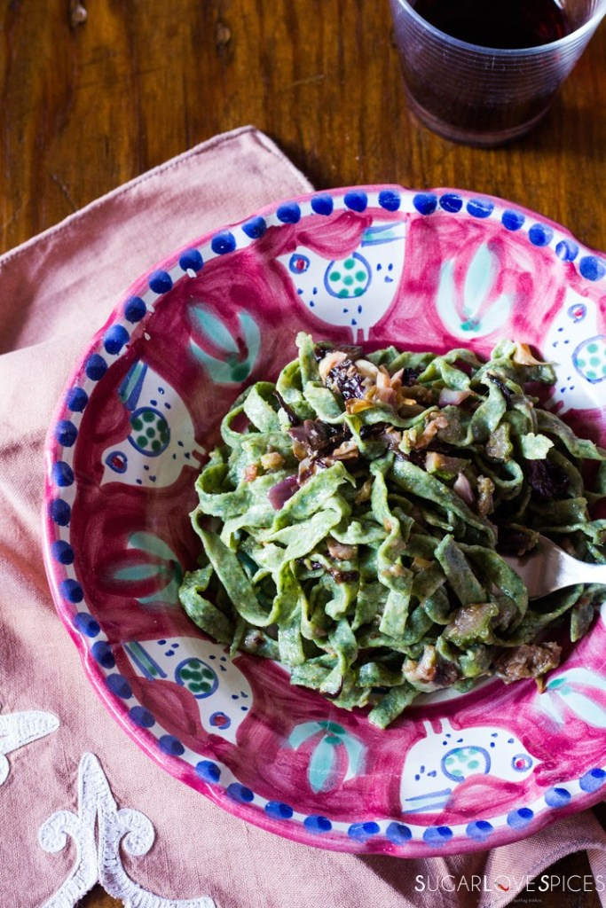 How to make Spinach Fettuccine-in the plate