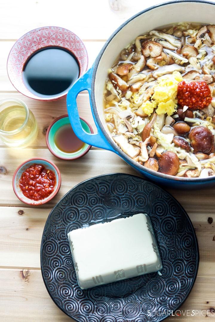 Hot and Sour Asian Soup-tofu