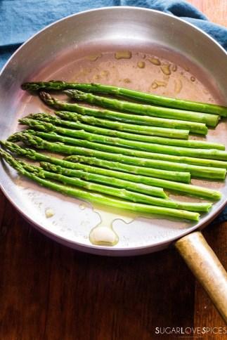 Simple Stove top Lemon Asparagus-in the pan2