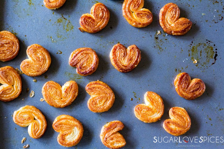 French palmiers with homemade puff pastry-horizontal-pan