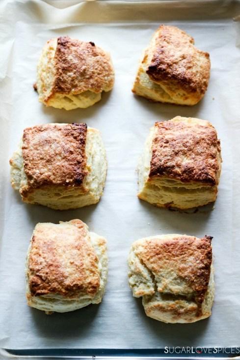Raspberry Sour Cream Shortcakes-biscuits