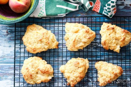 Peach White Chocolate Scones-on the rack-feature