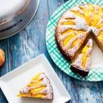 Spelt flour peach yogurt cake-horizontal