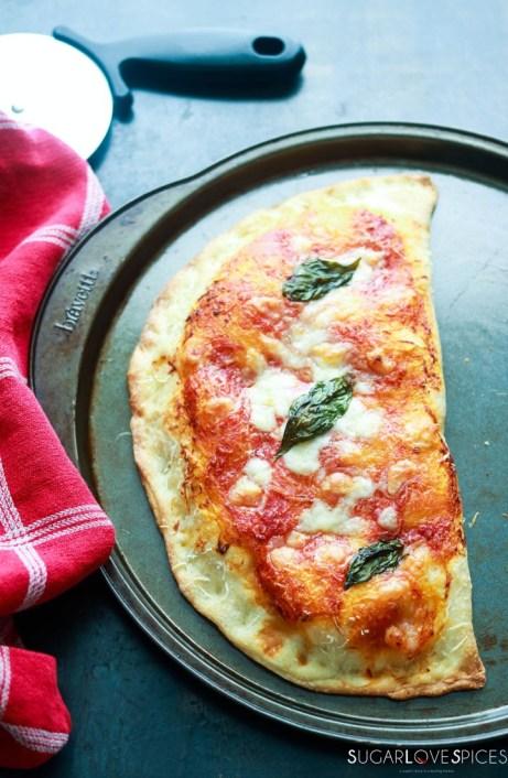 Calzone Napoletano-on-baking-sheet