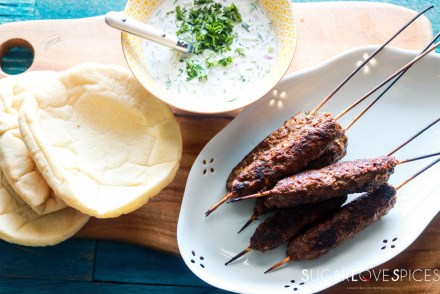 Grilled Beef Kafta with Tzatziki sauce-feature