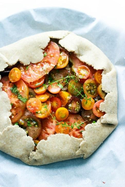 heirloom tomato galette-before