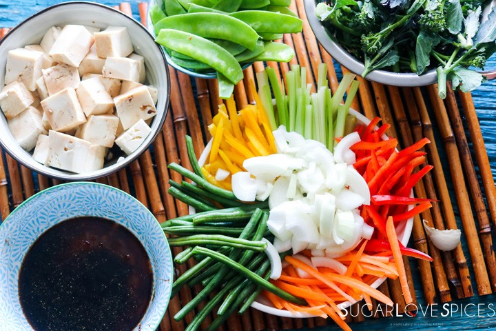 Laotian Sweet and Sour Tofu-ingredients