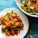 Laotian Sweet and Sour Tofu-plate and pan