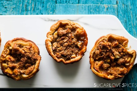 Petite Peach Ginger Streusel Pies-feature-closeup