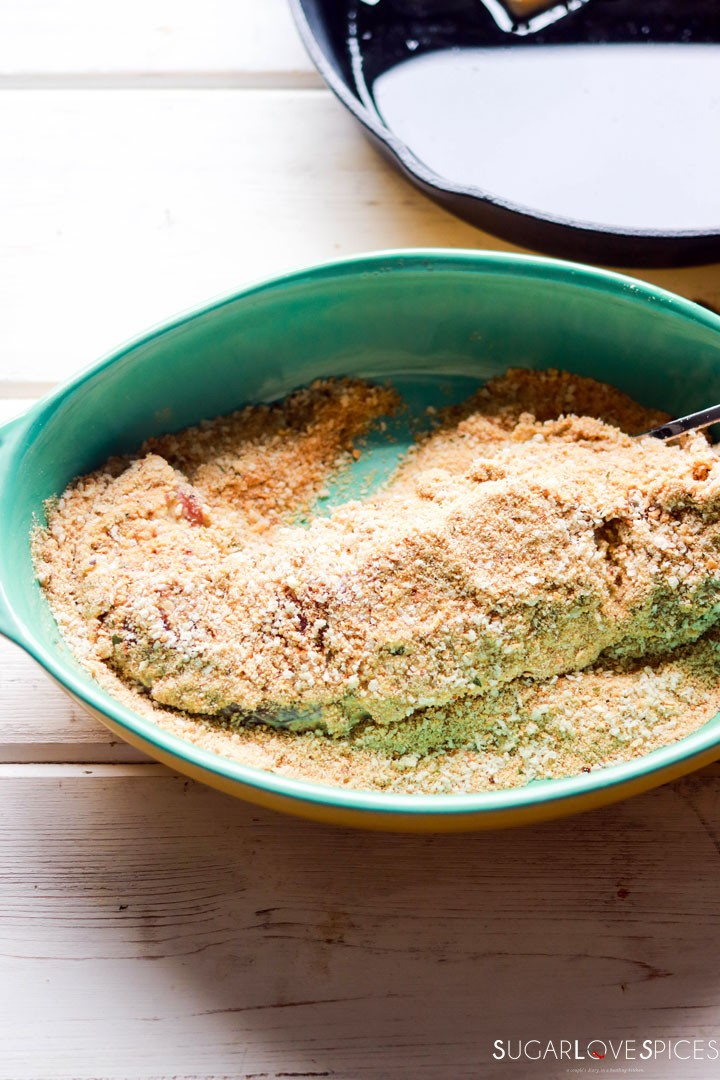 pork tenderloin-prep-breadcrumbs