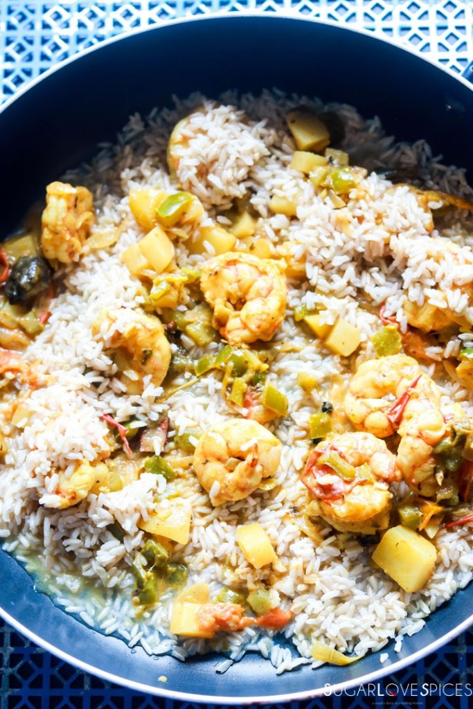 Shrimp Biryani-prep