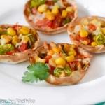 Mexican Style Mini Tortilla Pizzas