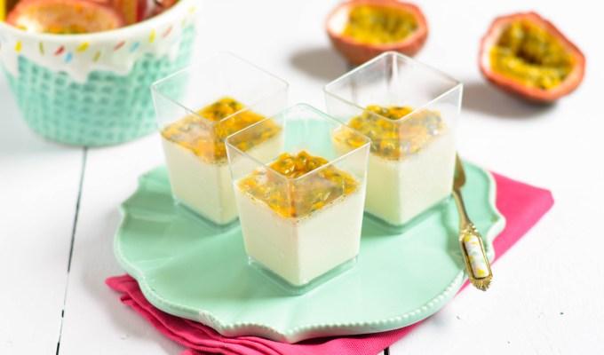 Vanilla Panna Cotta with Passion Fruit