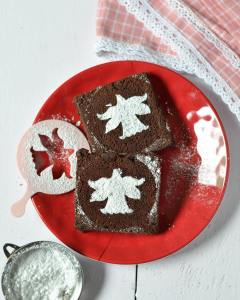 Christmas feels all over! Decorated my brownies with these stencilshellip
