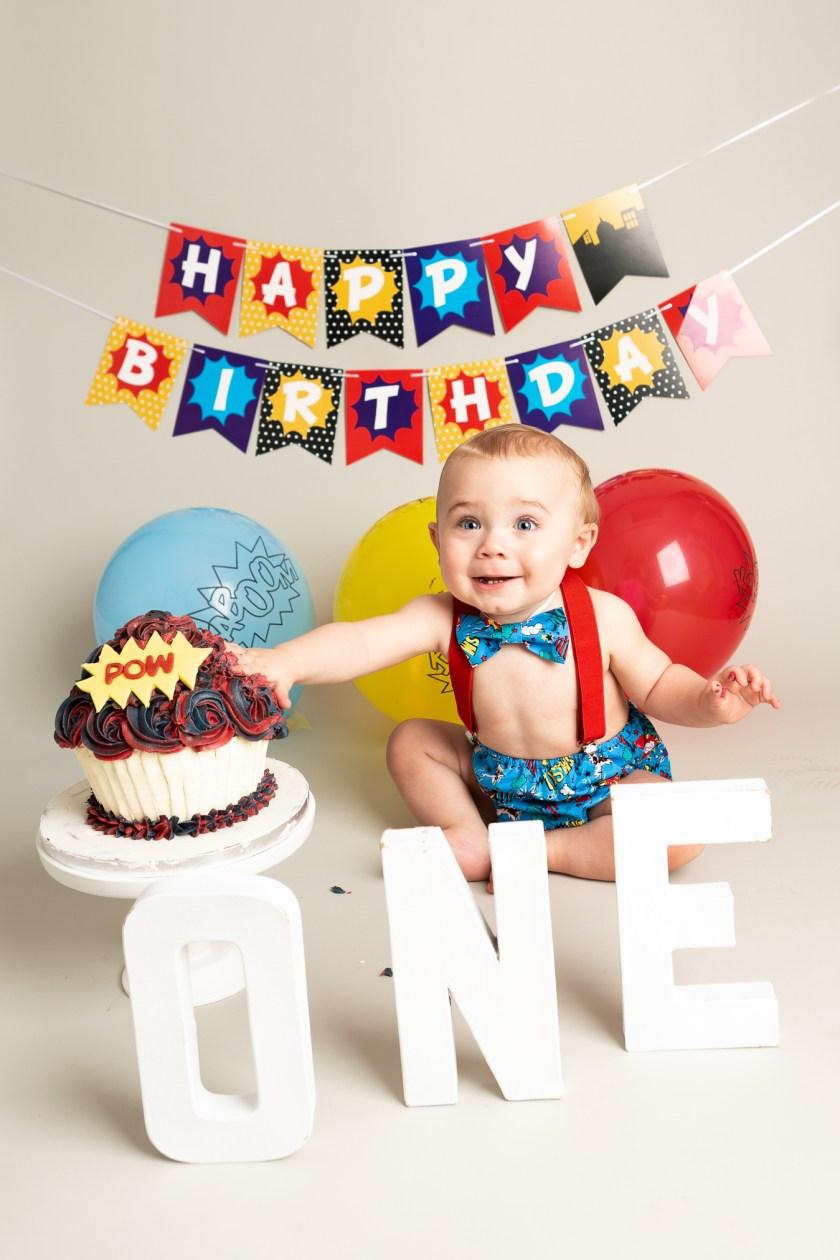 cake smash photo session 1 year old