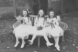 flower girls, wedding photography, black and white