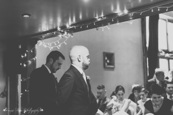 groom, awaiting brides arrival, documentary style photography, wedding