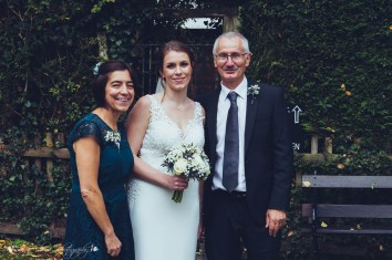 parents, family, bride, the hundred house, wedding photography