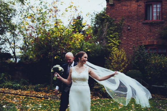 bride, groom, portraits, wedding photography, west midlands, veil, candid