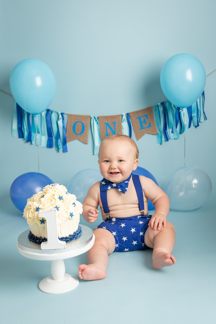 cake smash photography first birthday portraits dudley west midlands baby boy