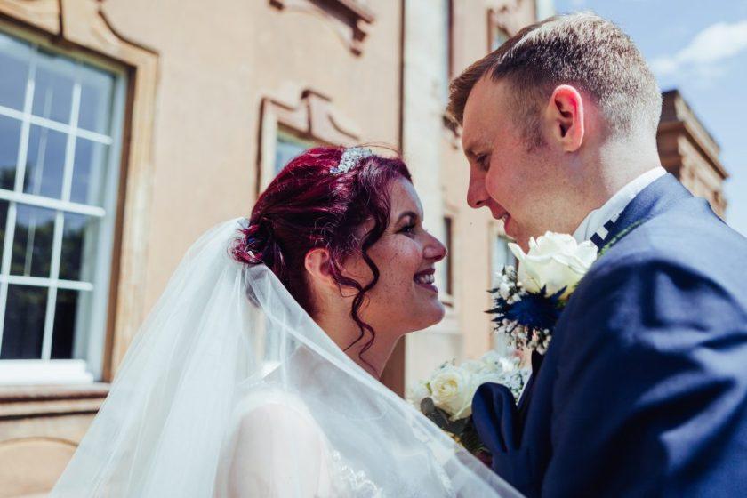 Himley Hall Wedding Photography Photographer veil