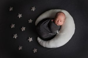 newborn photography dudley west midlands baby photography moon prop