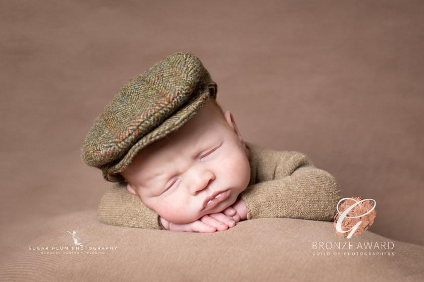 newborn photography baby dudley west midlands flat cap