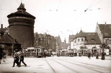 Am Königstor in Nürnberg um 1915