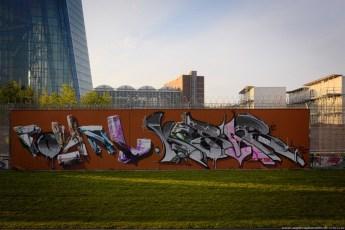Graffiti am EZB-Neubau 4
