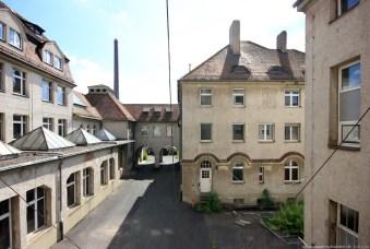 Straßenbahndepot in Nürnberg Muggenhof #29 - Blick in den Hof des Verwaltungstraktes