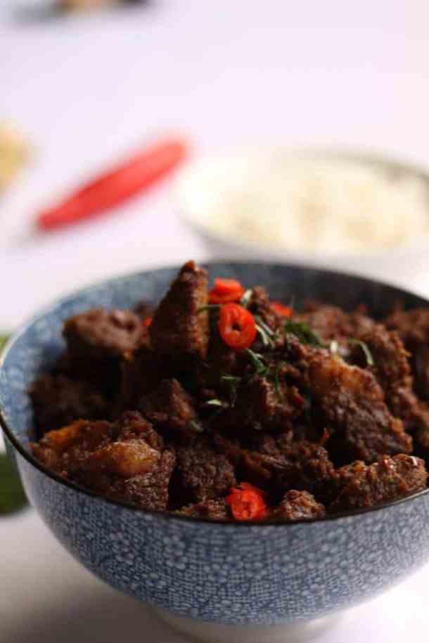 Beef Rendang by Sugar Salt Magic. A rich, dry malaysian curry