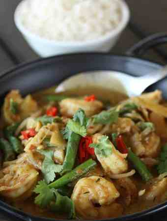 Thai Panang Curry with Prawns