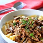 Slow Cooker Beef Stroganoff by Sugar Salt Magic