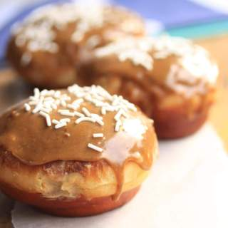 Caramel Doughnuts with Brown Sugar Custard