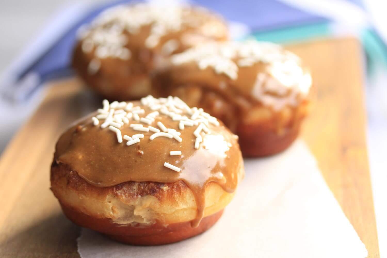 Caramel Doughnuts with Brown Sugar Custard