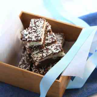 Chocolate Coconut Brownie Bars by Sugar Salt Magic