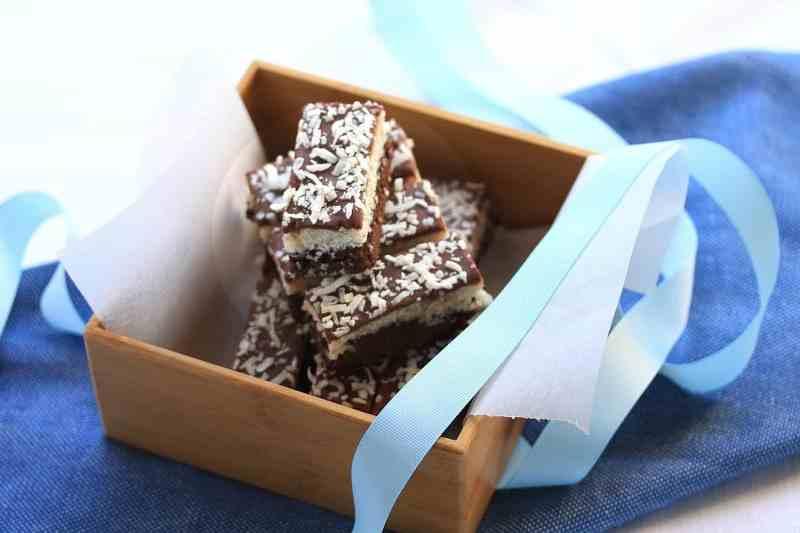 Chocolate Coconut Brownie Bars by Sugar Salt Magic