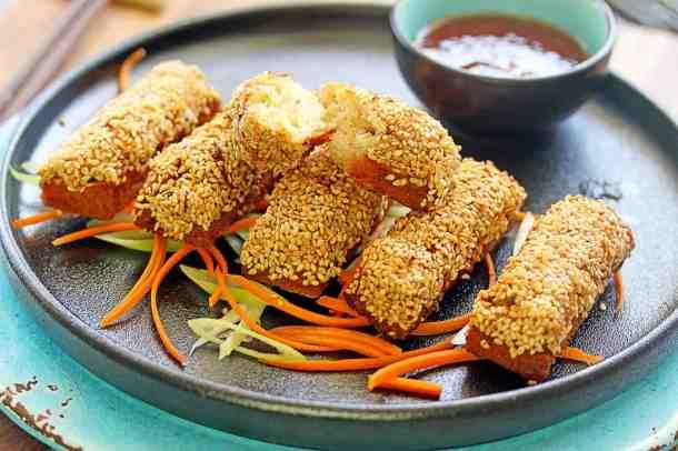 Golden Sesame Prawn Toast (Shrimp Toast) by Sugar Salt Magic