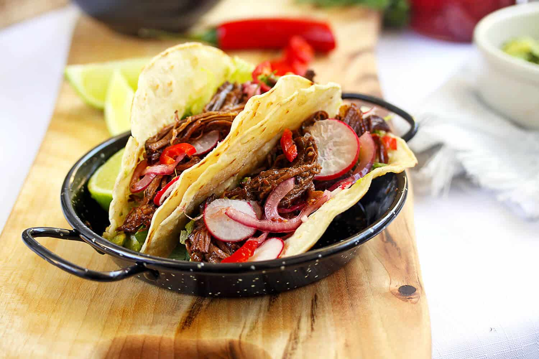 Braised BBQ Beef Short Rib Tacos
