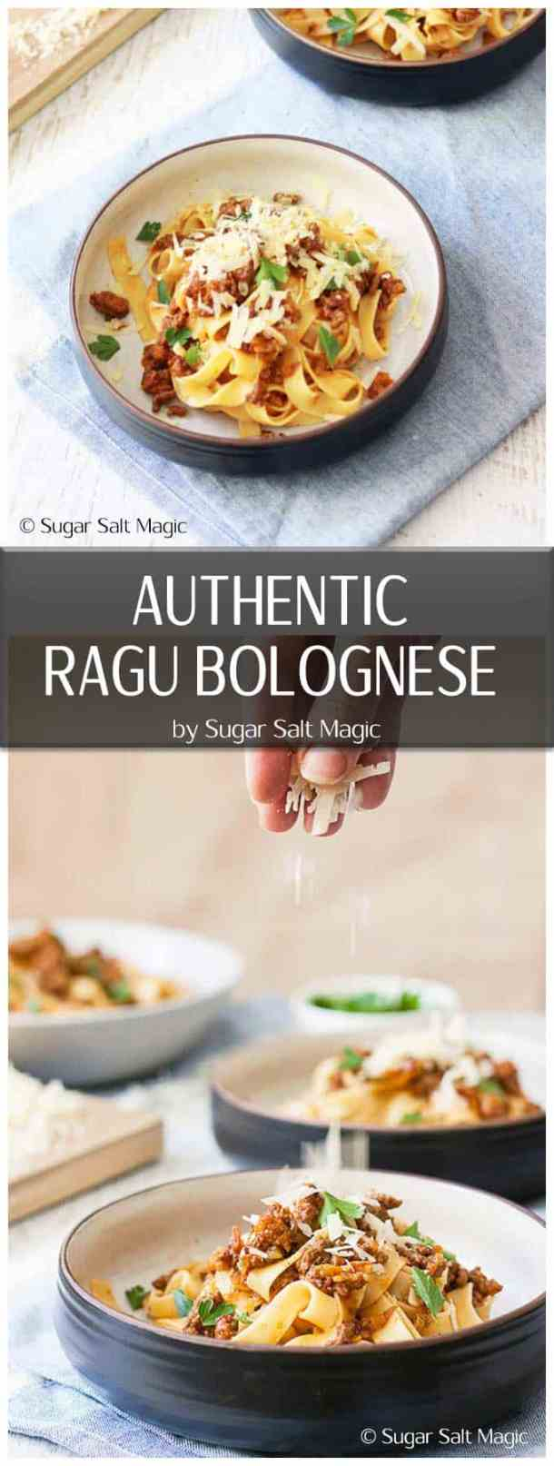 Ragu Bolognese with Tagliatelle by Sugar Salt Magic. An authentic Ragu Bolognese, like a comforting hug from an Italian nonna.