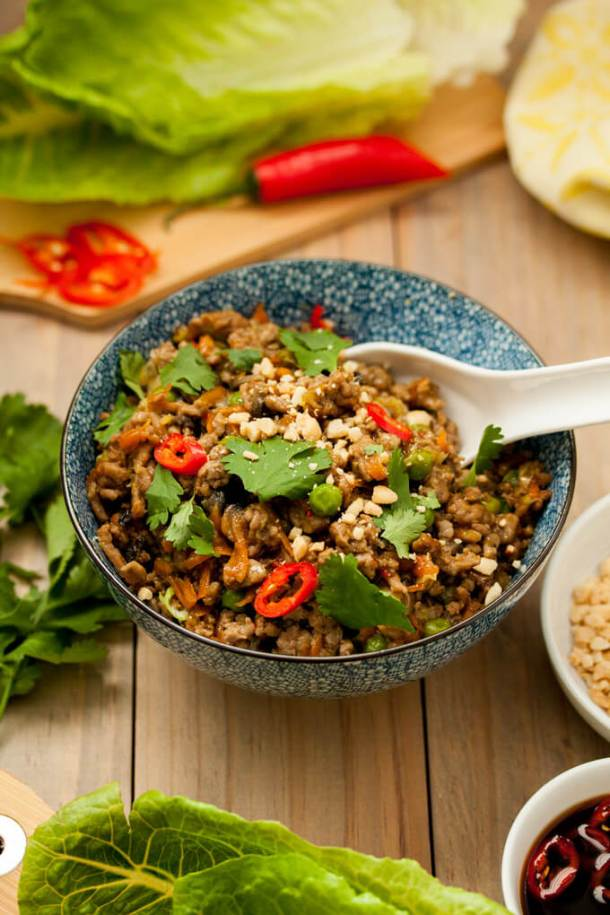 Turkey San Choy Bow by Sugar Salt Magic, A quick and healthy recipe perfect for a family weeknight meal.