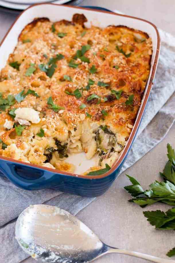 Leftover Turkey Pasta Bake - this is what to do with leftover turkey. #leftovers #turkey