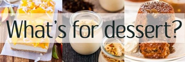 Dessert Recipes - tarts, frangipane, mousse, cake,
