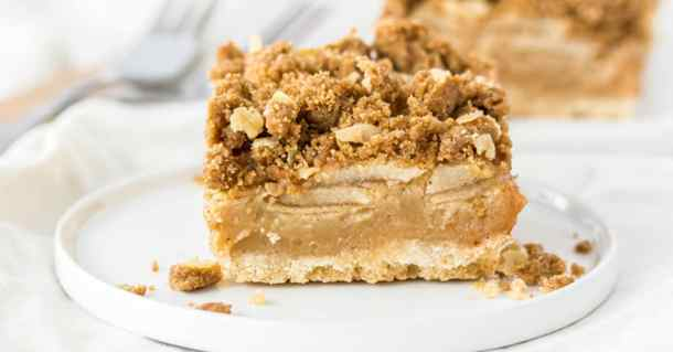 These Caramel Apple Bars topped with an easy crumble topping are like an apple crumble in a bar and still totally comforting.