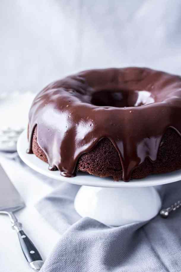Chocolate Chip Bundt Cake With Cheesecake Filling Sugar