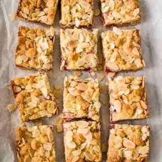 Raspberry Almond Shortbread Bars