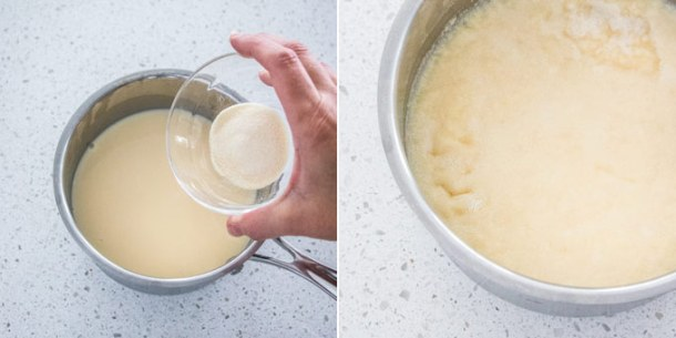 Christmas desserts don't get much easier than this Boozy Eggnog Panna Cotta recipe. When you're cooking for a crowd, 3 ingredient easy panna cotta and 10 minutes is all you need.