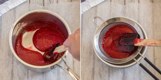 Making simple raspberry filling